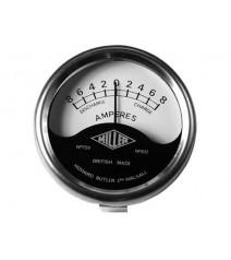"""Ampermètre 2"""" Miller Replica 8-0-8 noir et blanc (19006)"""